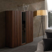 High sideboard / contemporary / walnut / ash