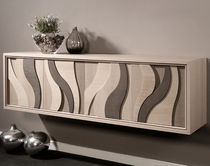 Wall-mounted sideboard / contemporary / walnut / ash