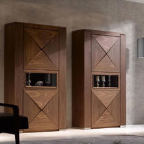 Contemporary china cabinet / walnut