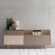 Contemporary sideboard / lacquered wood / walnut