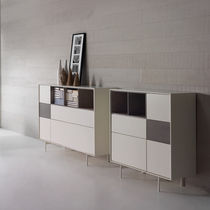 High sideboard / contemporary / lacquered wood