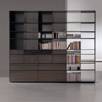 Contemporary bookcase / lacquered wood