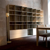 Contemporary shelf / lacquered wood