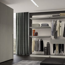 Wall-mounted walk-in wardrobe / corner / modular / contemporary