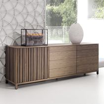 Contemporary sideboard / walnut / ash / elm