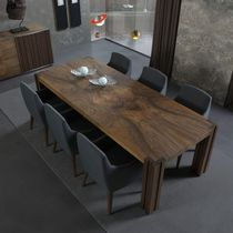 Contemporary table / walnut / ash / rectangular