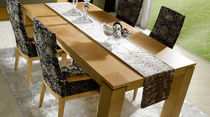 Contemporary table / walnut / rectangular / square
