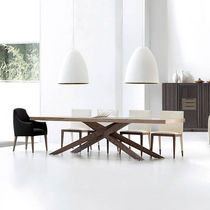 Contemporary table / walnut / ash / elm