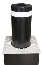 Access control bollard / steel / retractable / automatic