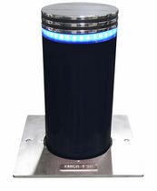 Access control bollard / stainless steel / retractable / automatic