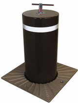 Access control bollard / cast iron / retractable / mechanical