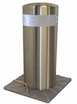 Access control bollard / stainless steel / retractable / semi-automatic