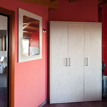 Wooden wardrobe / with hinged door / for hotels