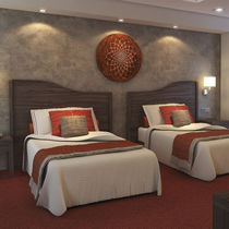 Hotel room headboard / for double beds / traditional / wooden