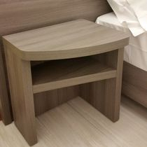 Contemporary bedside table / wooden / for hotels