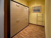 Single bed / wall / contemporary / wooden