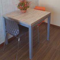 Contemporary table / wooden / square / for hotels