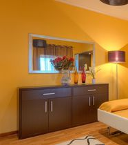 Contemporary TV cabinet / for hotel rooms / wooden