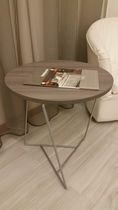 Side table / contemporary / wooden / round