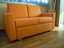 Hotel sofa / contemporary / leather / 2-seater