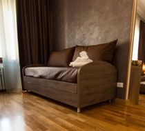 Sofa bed / contemporary / fabric / for hotels