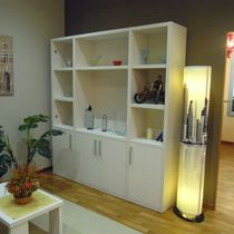 Contemporary TV cabinet / for hotel rooms / melamine