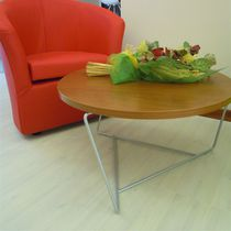 Coffee table / contemporary / wooden / round