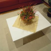 Contemporary coffee table / wooden / rectangular / for hotels