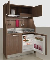 Contemporary kitchen / wooden / compact / contract
