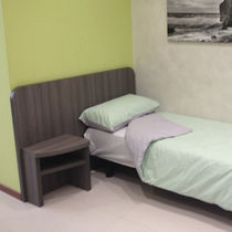 Single bed headboard / contemporary / wooden