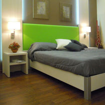 Hotel room headboard / for double beds / contemporary / fabric