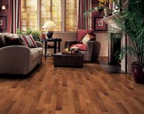 Engineered parquet flooring / floating / maple / semi-gloss