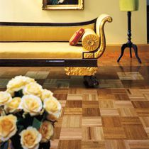 Solid parquet flooring / oak / high-gloss