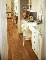 Solid parquet flooring / nailed / ash / high-gloss
