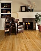 Solid parquet flooring / nailed / oak / high-gloss