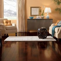 Engineered parquet flooring / floating / cherrywood / semi-gloss