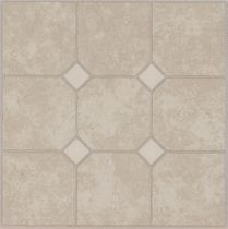Vinyl flooring / residential / tile / high-gloss
