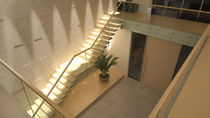 Wooden steps staircase / without risers