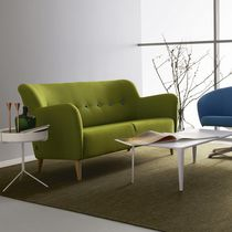 Contemporary sofa / fabric / 2-seater / green