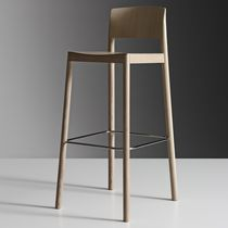 Contemporary bar chair / oak / ash