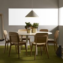 Contemporary table / ash / laminate / round