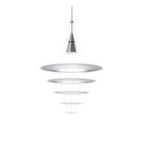 Pendant lamp / contemporary / aluminum / stainless steel