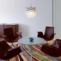 Pendant lamp / contemporary / brass / glass