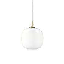 Pendant lamp / contemporary / blown glass / white