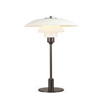 Table lamp / contemporary / brass / chromed metal