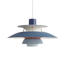 Pendant lamp / contemporary / aluminum / red