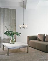 Contemporary chandelier / glass / brass / chrome