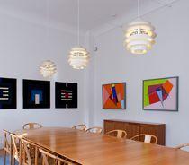 Pendant lamp / contemporary / aluminum / incandescent