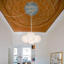 Pendant lamp / contemporary / glass / steel