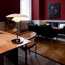 Table lamp / contemporary / aluminum / glass